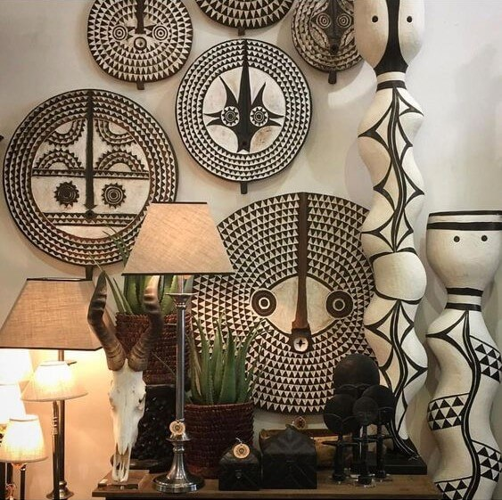wooden hand carved objects, African craftsmanship