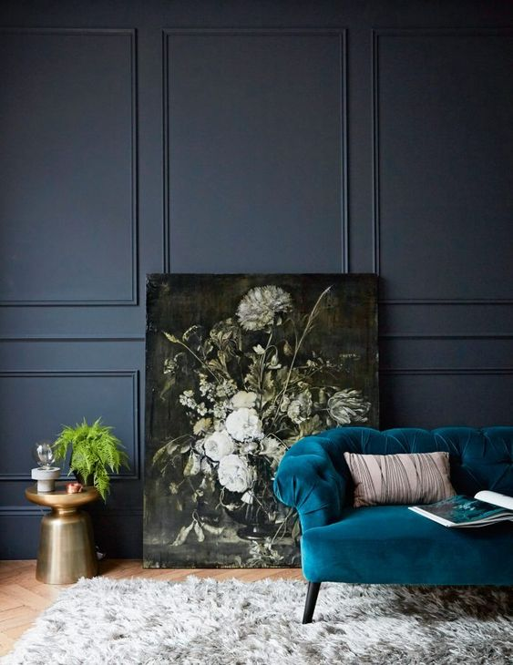 mustard yellow, interior color trends 2020, dark teal interiors